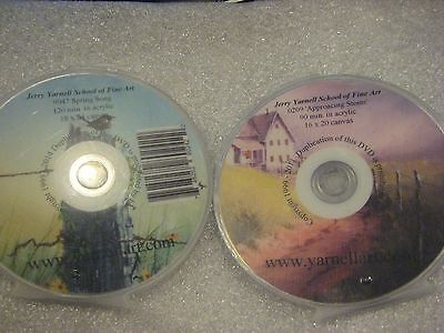 Jerry Yarnell Acrylic painting DVD LOT (No 7) . lot  of 2 DVDs