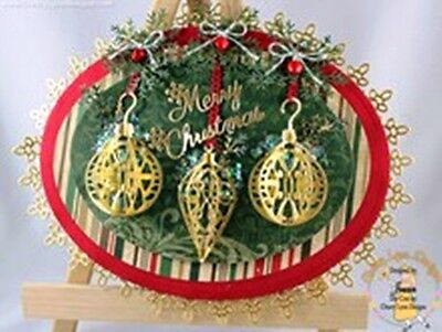 Cheery Lynn - Lacy Christmas Ornaments dies - for use in most cutting systems