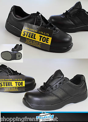 New Rockport womens au7.5xw steel toe safety work shoes 1860 gen leather upper