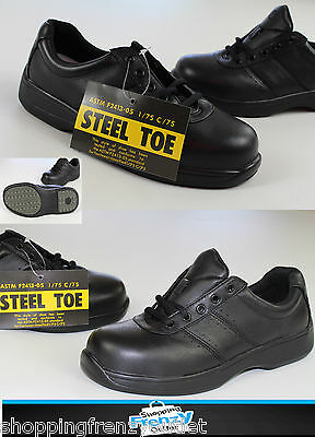 New Rockport womens au8w steel toe safety work shoes 1860 gen leather upper