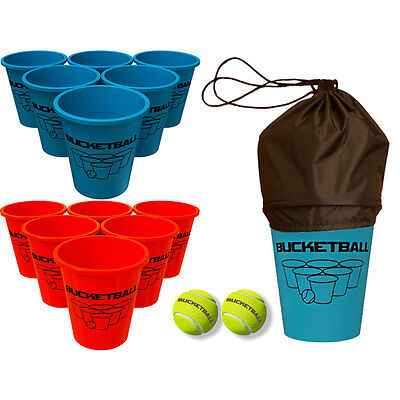BucketBall - #1 Giant Beer Pong Game - Family Friendly Beach Game