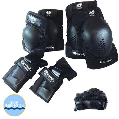 ADRENALIN Skate Protection 6 piece Pack - Wrist Brace Guards, Elbow & Knee Pads