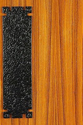 """Amazing 22 115/8"""" X 3"""" Cast Iron Kick Plate With Rough Textured Finish. Front Do"""
