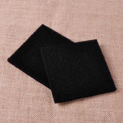 2x Black Universal Activated Carbon Foam Sponge Air Filter Pad NEW