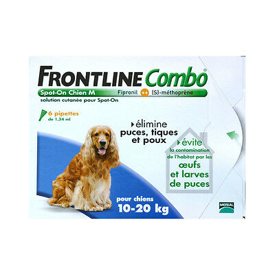 Frontline Combo Spot-On M Chien (10-20 kg) - 6 pipettes