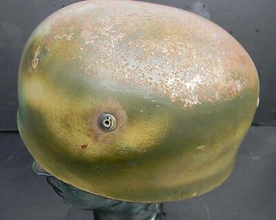 German paratrooper Helmet with liner and chin strap.