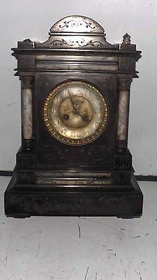 antique mantle clock Victorian 8 day.