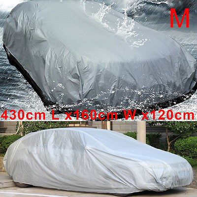Universal Large Size M Full Car Cover UV Protection Waterproof Outdoor Indoor