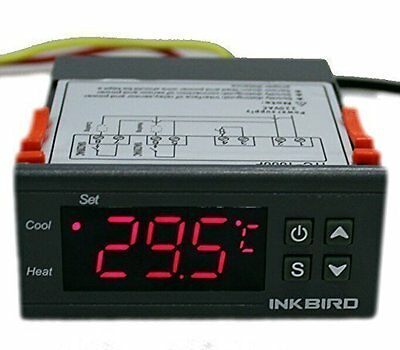 Temperature Controller ITC-1000 12v thermostat dual sensor freezer display fan