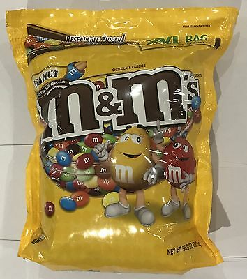903894 1.59kg BULK BAG OF M&M'S - PEANUT CHOCOLATE CANDIES - XXL BAG! - USA