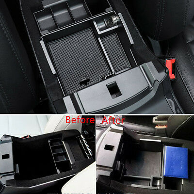 For Ford Explorer 2011-2017 Interior Armrest Storage Box Organizer Holder + Mat