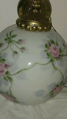Vintage  Victorian Large porcelain   hand painted  light fixture