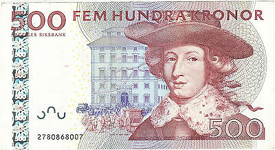 [#264516] Sweden, 500 Kronor, 2001-2006, KM:66a, 2001-2002