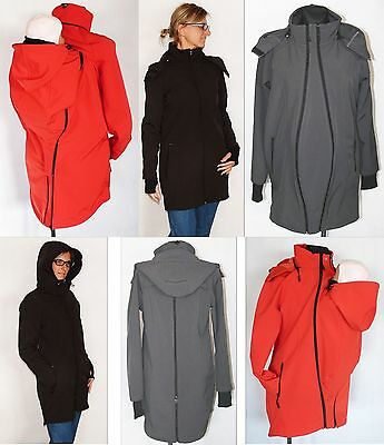 4 In 1 Babywearing Winter Jacket For Back Front Baby Carriers Softshell Fleece