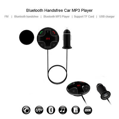Handsfree Wireless Bluetooth FM Transmitter Car Kit Mp3 Player USB Charger GREY