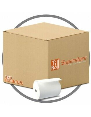 20 Rolls 80x80 Thermal Receipt Paper Till Roll Epson TM-L90 | Multi Buy Discount