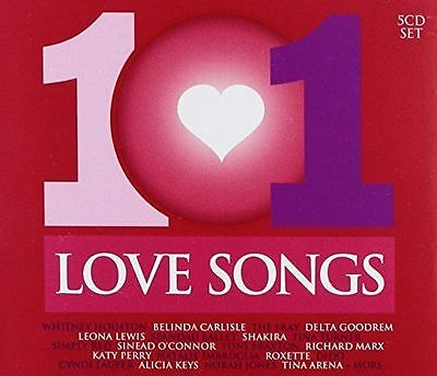 101 Love Songs Various Artists 5 Cd New