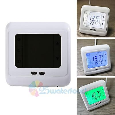 Programmable Touch Screen Thermostat Room Digital LCD Temperature Thermometer