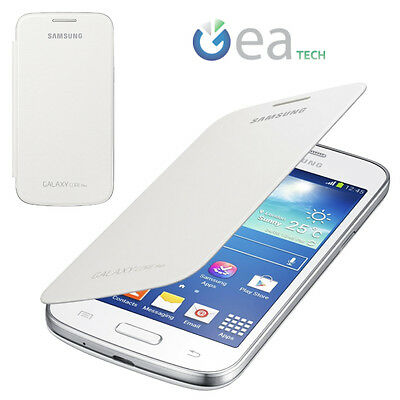 Flip Cover Originale Samsung per Galaxy Core Plus SM-G350 Custodia Libro Bianca