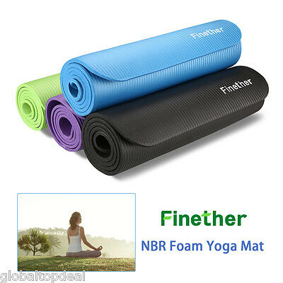 Yoga Exercise Fitness Workout Mat Physio Pilates Festival Camping Gym Non Slip