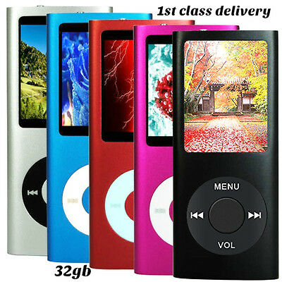 New 32Gb Mp3 4Th Generation Music Media Player Lcd Screen Fm Movie Video Photo
