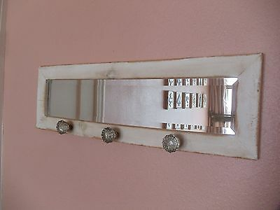 Shabby Chic Beveled Mirror With Antique Door Handle Knobs