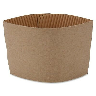 Hot Cup Corrugated Brown Sleeves fit 10oz to 16oz Coffee Cups- 1 or 50 Count
