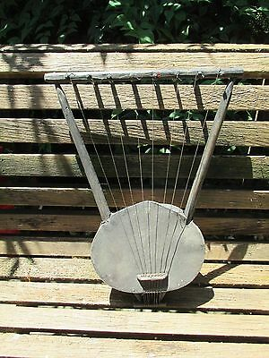 Vintage Wood Hand Made African Harp / String Musical Instrument Lot B