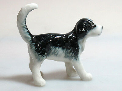 Mini Collectible Ceramic Otterhound Black Dog Breed FIGURINE Hand painted