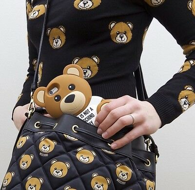 Cute Brown Bear Silicone Case Moschino Logo Phone Cases for iPhone 5 5S