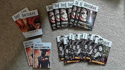 Sketchlife Magazine - Bulk lot of Issue Zero, One & Two & Signed Sketchbook