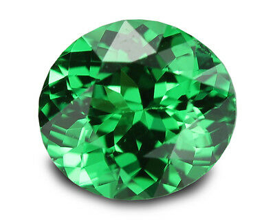 0.78 Carats Natural Tsavorite Loose Gemstone - Oval