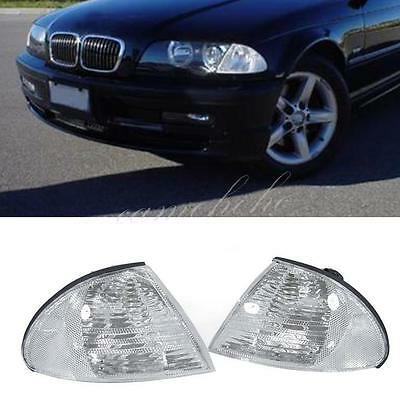 Pair For BMW 3 Series E46 98-01 Front L & R Indicator Turn Signal Corner Lights