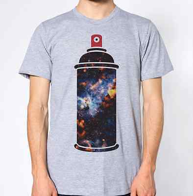 Spray Can T-Shirt Graffiti Top Space Galaxy Graphic Design
