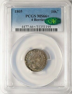 1805 10C 4 Berries PCGS MS66+ CAC - High-end Premium Gem