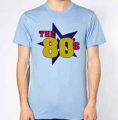 any size 8 to 18 I LOVE EIGHTIES 80s T SHIRT WITH RHINESTUD DESIGN