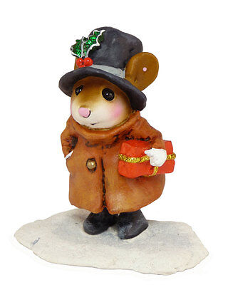 SQUIRE OF MICESTER by Wee Forest Folk, WFF# M-342, Christmas Mouse