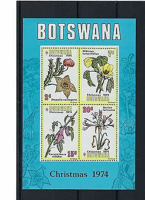 Botswana - 1974  - Christmas   - Mint - Mini Sheet Post Free To Uk.