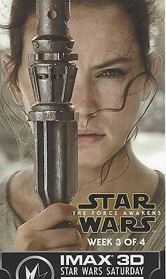 Star Wars The Force Awakens Regal IMAX 3D 3 of 4 Movie Ticket Exclusive REY