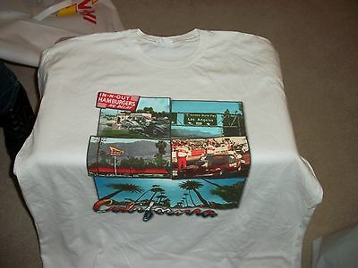 In-N-Out Burger White T-Shirt - California - Adult Xl