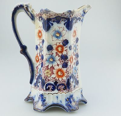 Antique English Pottery : A Gaudy Welsh Jug C.19thC