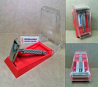 "1 VINTAGE SAFETY RAZOR - GILLETTE ""TECH"" ('60s-'70s) - ***UNUSED!*** MINT IN BOX"