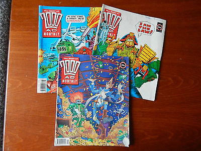 3X Old The Best Of 2000 AD Monthly Aug Oct Nov 1991 Issues 71 73 74 2000AD