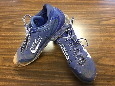Kyle Schwarber Game Used Signed Cleats Cubs