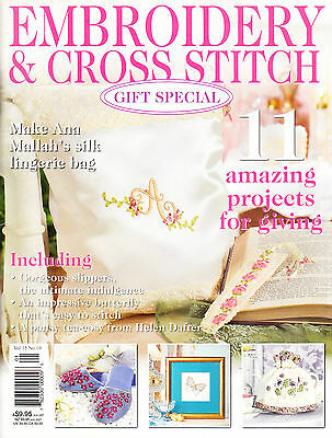 Embroidery & Cross Stitch Magazine, Gift Issue Crewel Ribbon Goldwork Paperback