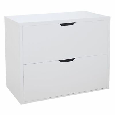Horsens 2 Drawer Lateral Filing Cabinet White