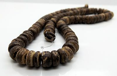 """Brown Coconut Shell Beads Abacus 8mm 16"""" Strands 1 3 5pcs Jewellery Making Pack"""