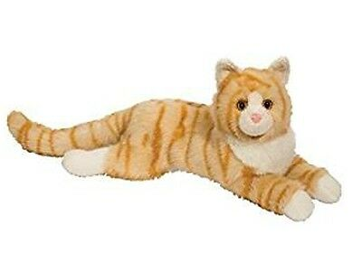 19 Inch Oriole Orange Tabby Cat Plush Stuffed Animal By Douglas