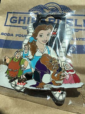 Disney Belle Beauty And The Beast Batb Surprise Jumbo Pin Le 150 Dsf Gsf Dssh