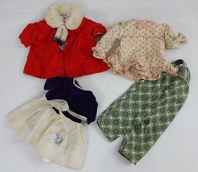 4 Pc Lot w 2 Tagged Mattel Chatty Cathy Outfits & 2 No Tag Doll Dress Pants Toy